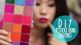 DIY Lipsticks using CRAYONS! Organized in a Palette | Wearable Colors - YouTube