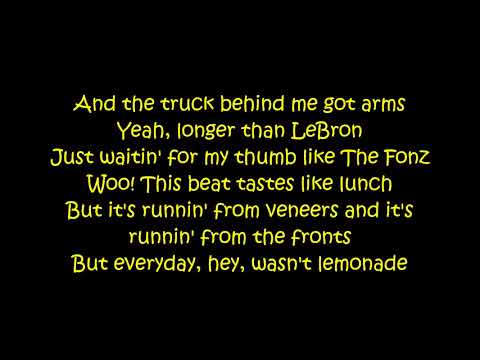 N.E.R.D. Ft Rihanna - Lemon (Lyrics On Screen)