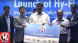 World Hy-Fi Day, Mayor Bonthu Ram Mohan has launched Hyderabad Wi-Fi Project in city. V6 IOS App ▻ https://goo.gl/EfEqlJ...