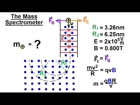 Physics - E&M: Magn Field Effects on Moving Charge & Currents (20 of 26) The Mass Spectrometer