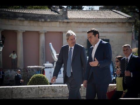 Κοινή Συνέντευξη Τύπου με τον Πρωθυπουργό της Ιταλίας κ. Πάολο Τζεντιλόνι
