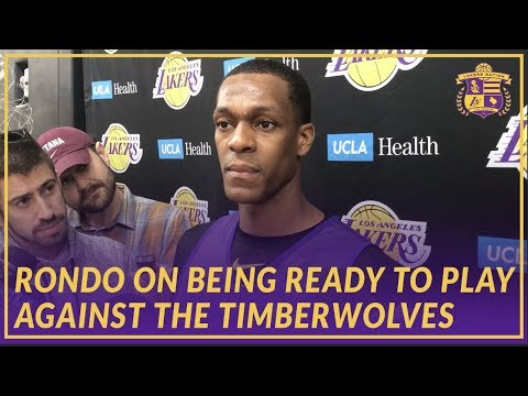 Video: Lakers Interview: Rondo On Being Ready To Play Against the Timberwolves