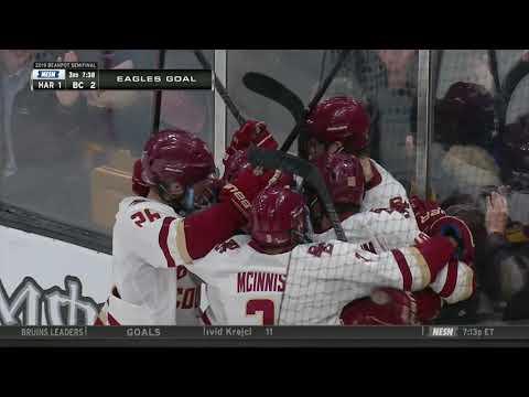 Video: Boston College Vs. Harvard Beanpot: Jack McBain Gives Eagles 2-1 Lead