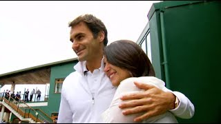 Beatriz Tinoco flew to London, where she didn't just meet Roger Federer -- she played tennis with him on the grassy courts of...