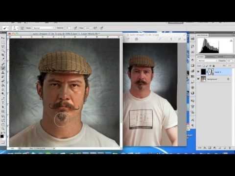 Auto-retrato com Dragan Effect no photoshop (português)