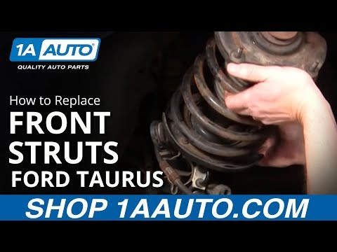 How To Install Replace Front Struts Shocks Ford Taurus Mercury Sable 96-07 1AAuto.com