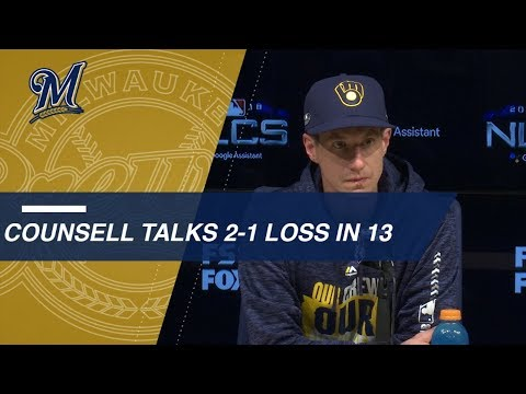 Video: NLCS Gm4: Craig Counsell on extra-inning Game 4 loss