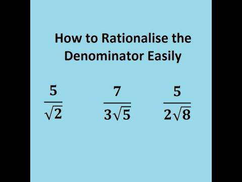 Rationalisierung von SURDS einfach gemacht  - GCSE und AS Mathe Wiederholung