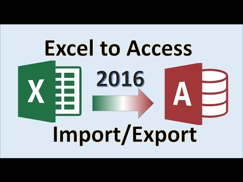 How To Import Excel Data Into Access 2016 - Importing Spreadsheet File From Database In Microsoft MS