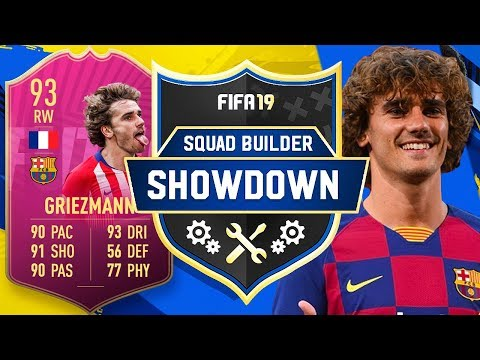 NEW BARCELONA SIGNING!! GRIEZMANN SQUAD BUILDER SHOWDOWN!! - FIFA 19 ULTIMATE TEAM