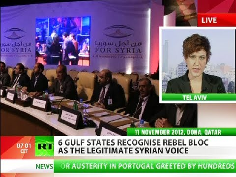 Six Gulf monarchies recognize rebel bloc as Syrian voice