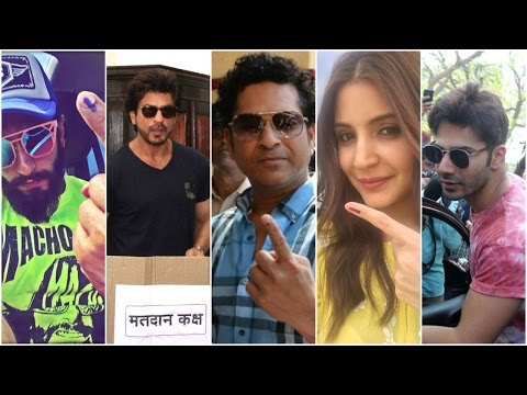 XxX Hot Indian SeX BMC Elections 2017 Bollywood Celebs Step Out To Vote SRK Sachin Tendulkar Ranveer Anushka.3gp mp4 Tamil Video
