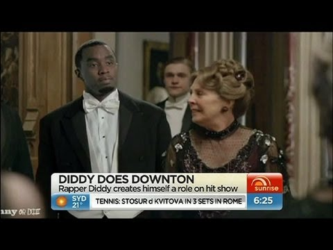 diddy - Rapper P. Diddy has inserted himself into some Downton Abbey scenes, with hilarious results!