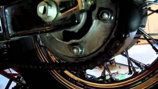6. Adjust the Chain on a Honda VT750 ACE Shadow Motorcycle