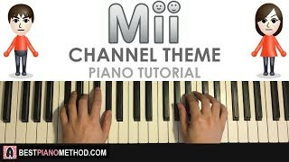 """HOW TO PLAY - Nintendo Wii - Mii Channel Theme (Piano Tutorial Lesson)Visit Amosdoll's Best Piano Method website for information on all piano courses and services: http://bestpianomethod.com/Learn Amosdoll's methods on how to play piano covers like this song or ANY song within 10-20 minutes by ear WITHOUT sheet music or synthesia by grabbing your FREE preview of the """"Ear Mastery Book"""" here: http://bestpianomethod.com/free-book/-- JOIN AMOSDOLL'S PREMIUM PIANO MEMBERSHIP --Join Amosdoll's PREMIUM PIANO MEMBERSHIP to gain access to all exclusive piano courses, full song video lessons, and festive packages and lessons: http://bestpianomethod.com/premium-membership/-- BEGINNER'S PIANO COURSE --If you are completely NEW to the piano and don't know WHERE to start, then get started and learn from my top-selling Udemy piano course """"Piano From Zero To Pro"""" designed specifically for BEGINNERS: https://www.udemy.com/piano-from-zero-to-pro-beginner-essentials-to-play-by-ear-amosdoll-- FULL SONG VIDEO LESSON SERVICE --If you want me to make a full song video lesson (30-60 minutes) on any specific song or arrangement of your choice, then use my custom """"Full Song Video Lesson Service"""":http://bestpianomethod.com/full-song-video-lesson/-- SHEET MUSIC TRANSCRIPTION SERVICE --Not only I can play and teach any song in the world through video, but I can also write any song or arrangement out onto sheet music using my """"Sheet Transcription Service"""":http://bestpianomethod.com/sheet-music/-- SONG REQUESTS --Pick any song or arrangement of your choice, and I will professionally record a dedication video for you and send you the HD mp3 file:http://bestpianomethod.com/request-any-song-piano-cover-service/-- BECOME MY PATRON --Donate on patron to support me as a musician whilst also getting exclusive monthly rewards for yourself:https://www.patreon.com/amosdollmusic-- USING MY PIANO COVERS --You can use my piano covers in your videos as long as you credit me by linking my original video in your"""