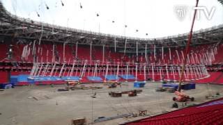 Time-lapse video showing the construction of Athletic Club Bilbao's San Mamés stadium