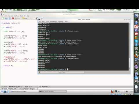 C Programming Part 6 scanf regular expressions