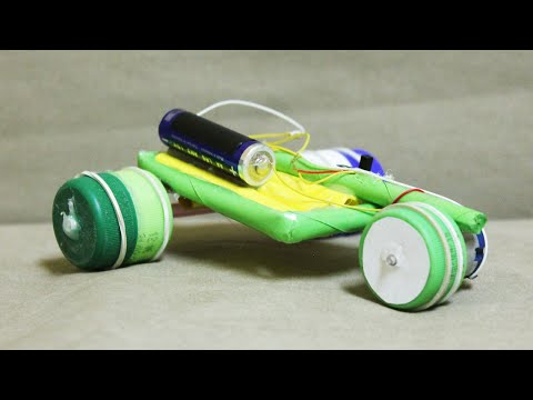How to make a paper car that can move - Homemade electric car
