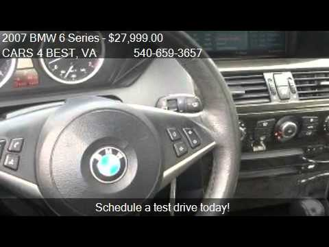 2007 BMW 6 Series  - for sale in STAFFORD, VA 22554