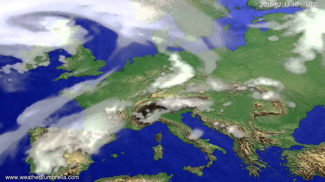Cloud forecast Europe 2015-07-15