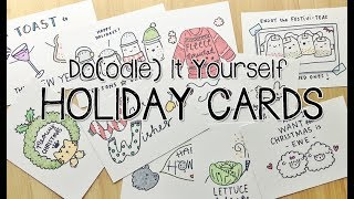 10 PUN-Tastic DIY Holiday Cards | Doodle with Me