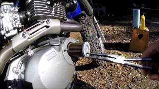 4. SUZUKI DR200SE OIL AND FILTER CHANGE FOR BEGINNERS