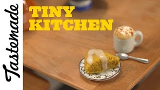 Tiny Scone and Lil'  Latte | Tiny Kitchen by Tastemade