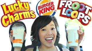 "Riding on the coattails of the cereal-milk tread, Burger King has come out with two milkshakes flavored with Fruit Loops and Lucky Charms, but will it taste like the prize at the bottom of the box?  Watch and see.    New videos every Monday, Thursday, and Saturday!Join the Emmy League of Adventuresome Eaters & find me here:Subscribe: http://youtube.com/subscription_center?add_user=emmymadeinjapanTwitter: https://twitter.com/emmymadeinjapanInstagram: http://instagram.com/emmymadeSnapchat: @emmymadeFacebook: https://www.facebook.com/itsemmymadeinjapan/My other channel: emmymade http://bit.ly/1zK04SJThis video is NOT sponsored.  I just wanted to taste milkshakes.  If you'd like to help by contributing closed captions, or subtitles in another language, please follow this link: http://www.youtube.com/timedtext_video?ref=share&v=RfN8iF7S4psMcDonald's Frork: Bee Vlogs: http://bit.ly/2qGyaf4Broken Stars & Sprightly music courtesy of audionetwork.com and royalty-free Sprightly from iMovie.  If you're reading this, you know what's what. Comment: ""Smile! "" below. :)"