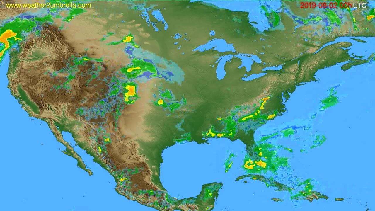 Radar forecast USA & Canada // modelrun: 12h UTC 2019-08-01