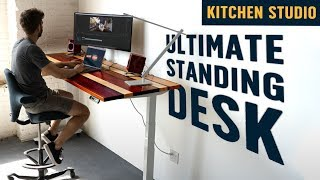 I Built a Completely Customized Standing Desk (and it's epic!) by Brothers Green Eats