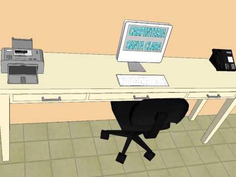Ikea mesas ordenador videos videos relacionados con - Carpinteria santa clara ...