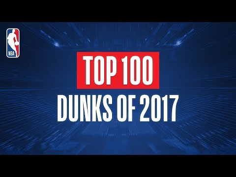 Top 100 Dunks From 2017 (видео)