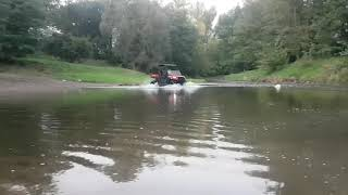 3. Polaris Ranger 150 test drive deep water.