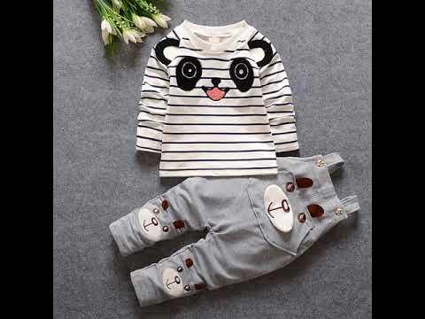 Детская одежда; осень 2020; комплект одежды для маленьких мальчиков и дев… видео