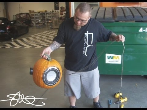 woofer - THE MAKING OF....from yesterdays pumpkin video (click here to see http://www.youtube.com/watch?v=sOeuhWC8iQE&feature=relmfu ). A Rockford Fosgate Punch 8