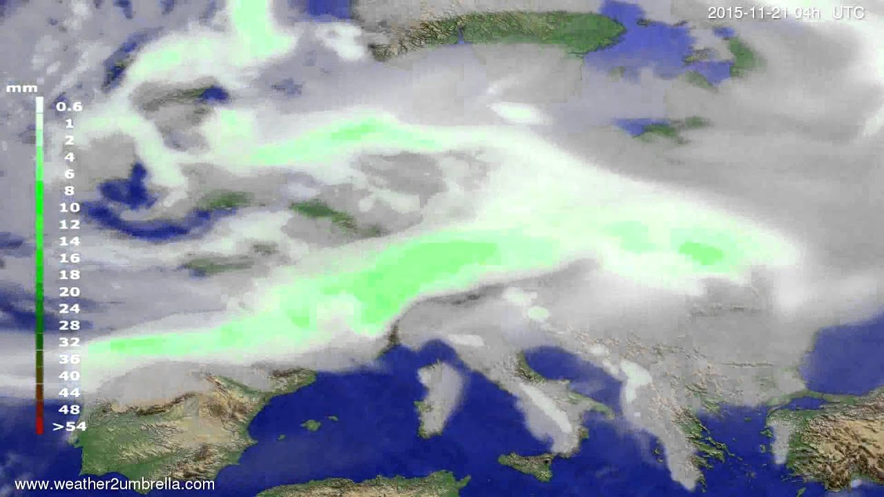 Precipitation forecast Europe 2015-11-17