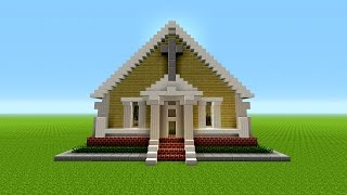 Minecraft Tutorial How To Build A Church Minecraftvideos Tv