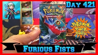 Pokemon Pack Daily XY Furious Fists Booster Opening Day 421 - Featuring MiNTYDERPZ by ThePokeCapital