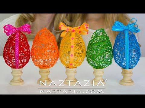 diy – uova pasquali decorative con il filo da ricamo
