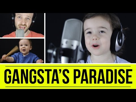 A Dad and His Cute 4YearOld Daughter Sing Coolio  s  Gangsta  s