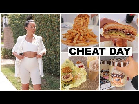 WHAT I EAT IN A DAY: CHEAT DAY EDITION | Marie Jay (видео)