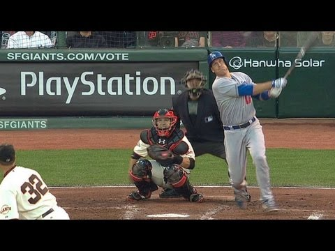 Video: LAD@SF: Ellis' solo dinger puts Dodgers on the board