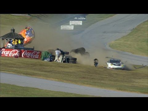 Porsche 911s crash at American Le Mans Series