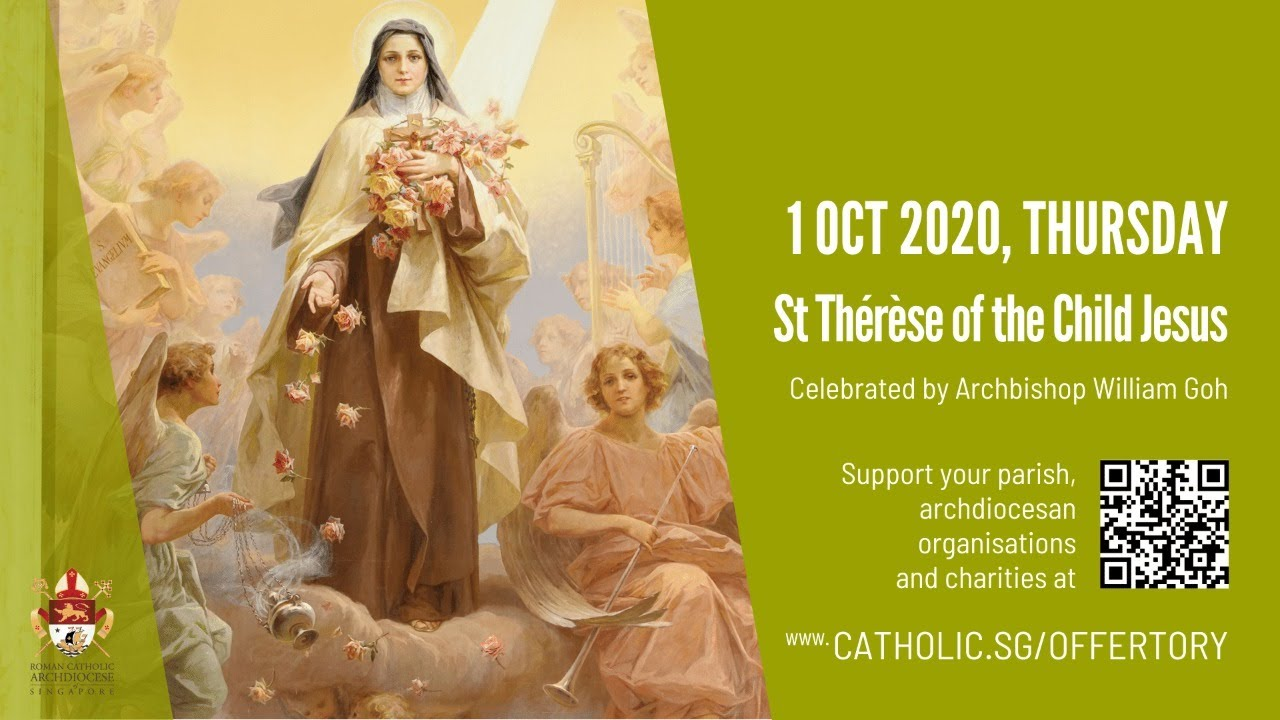 Catholic Live Mass 1st October 2020 Today Online - St Thérèse of the Child Jesus