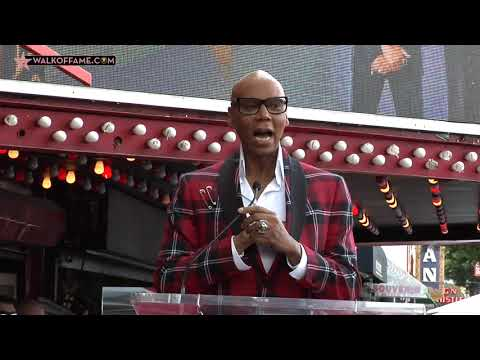 RuPaul Andre Charles Walk of Fame Ceremony