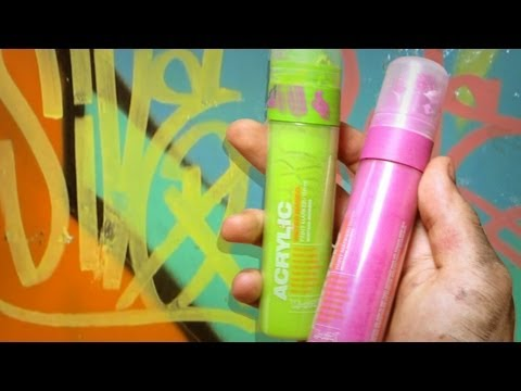 German Montana Acrylic Paint Marker Surface Test and Review