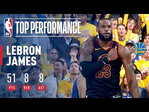 LeBron James' Epic 51 Point Performance   Game 1 Of The '17-'18 Finals