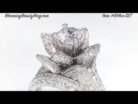 Unique Engagement Rings And Anniversary Rings By BloomingBeautyRing.com