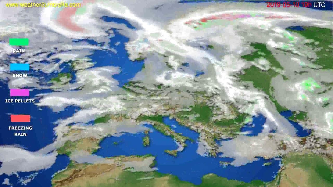 Precipitation forecast Europe // modelrun: 12h UTC 2019-05-07