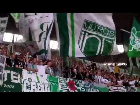 Hannover 96-Werder Bremen 30.03.14 Gästeblock Stimmung (видео)